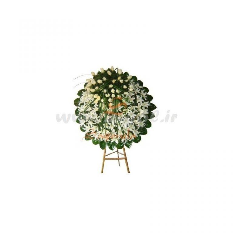 پایه گل ترحیم لیلیوم و رز