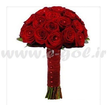 دسته گل عروس رز هلندی