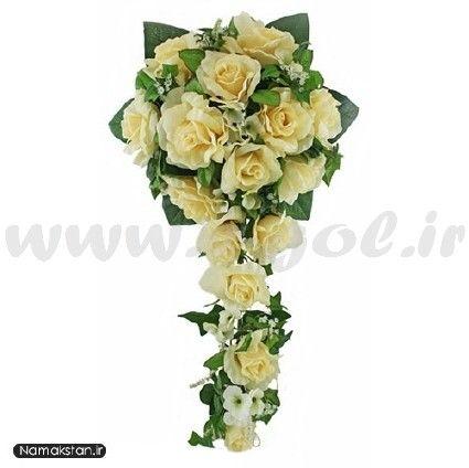 دسته گل عروس رز آبشاری