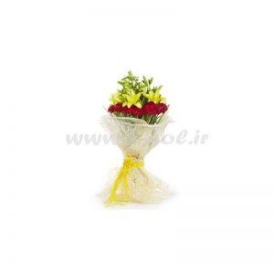 دسته گل لیلیوم و میخک