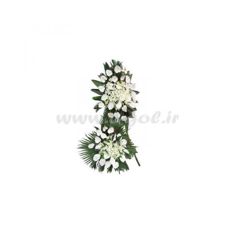 گل ترحیم لیلیوم و آنتوریوم