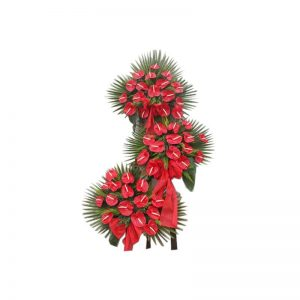 پایه گل آنتوریوم قرمز