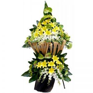 پایه گل آنتوریوم و لیلیوم