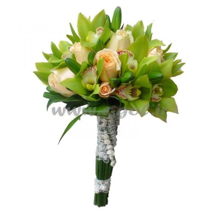 دسته گل عروس ارکیده و رز