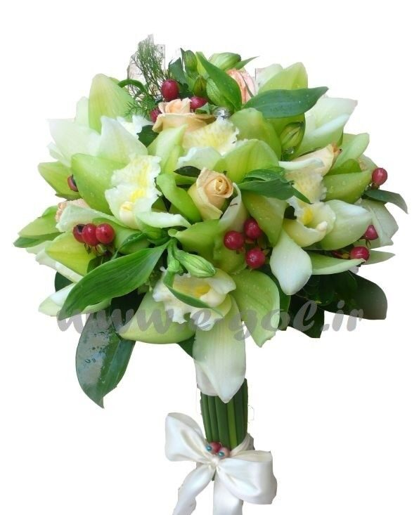 دسته گل عروس شاپرک