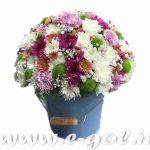 سطل گل فلزی